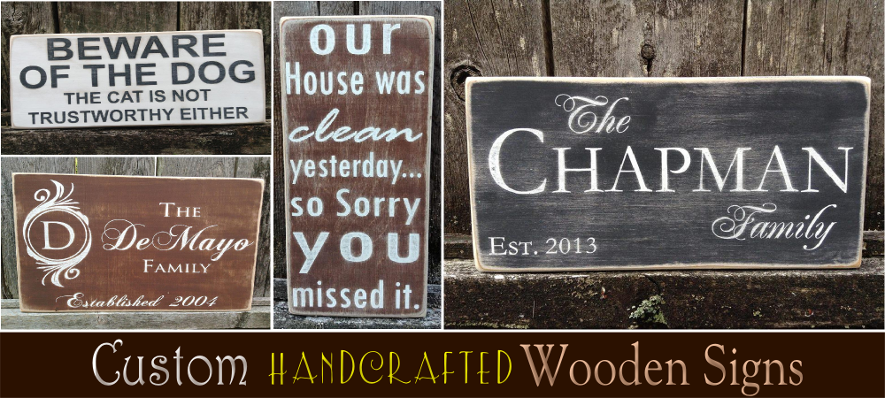 Wooden Signs Personalized Wood For Around The Home